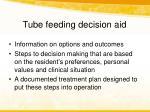 tube feeding decision aid