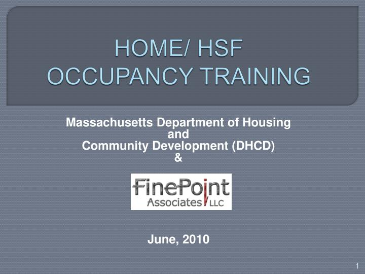 home hsf occupancy training n.