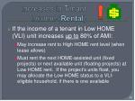 increases in tenant income rental