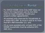 vli and li units rental