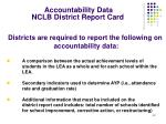 accountability data nclb district report card