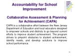 accountability for school improvement
