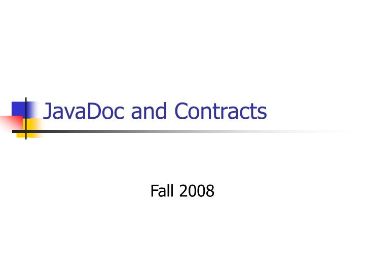 javadoc and contracts n.