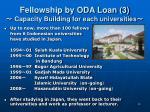 fellowship by oda loan 3 capacity building for each universities