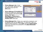 pbx access