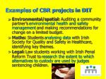 examples of cbr projects in dit