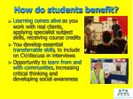 how do students benefit