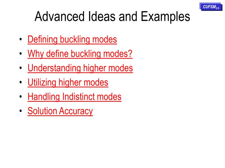 advanced ideas and examples n.