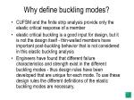 why define buckling modes