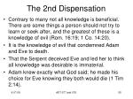 the 2nd dispensation1
