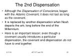 the 2nd dispensation11