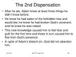 the 2nd dispensation2
