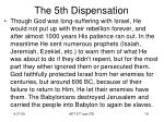 the 5th dispensation12