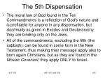 the 5th dispensation6
