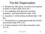 the 6th dispensation11