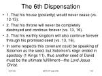 the 6th dispensation2