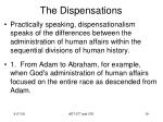 the dispensations17