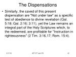 the dispensations40