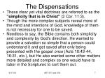 the dispensations5