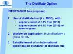 the distillate option