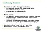 evaluating formats1