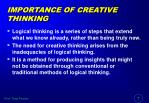 importance of creative thinking