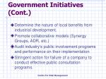 government initiatives cont