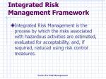 integrated risk management framework