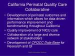 california perinatal quality care collaborative