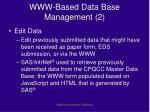 www based data base management 2