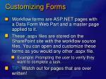 customizing forms