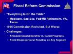 fiscal reform commission