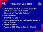 personnel cost more
