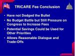 tricare fee conclusion