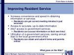 improving resident service