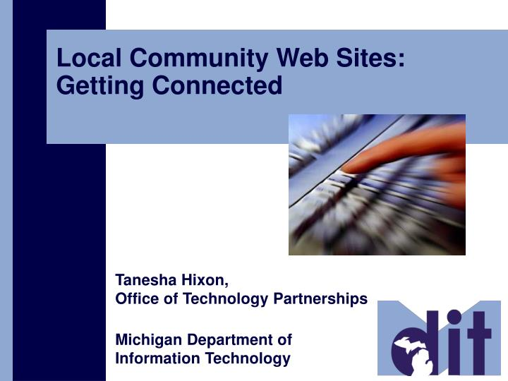 local community web sites getting connected n.