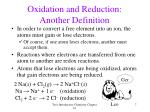 oxidation and reduction another definition