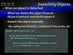 detaching objects