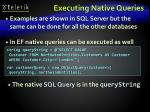 executing native queries