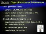 object persistence frameworks