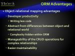 orm advantages
