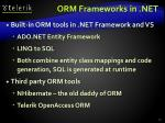 orm frameworks in net