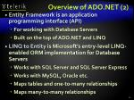 overview of ado net 2