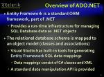 overview of ado net