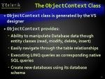 the objectcontext class