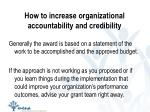how to increase organizational accountability and credibility1
