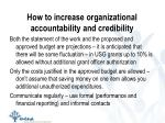 how to increase organizational accountability and credibility2