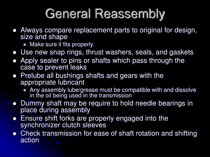 General Reassembly