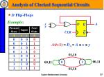 analysis of clocked sequential circuits5