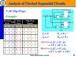 analysis of clocked sequential circuits6